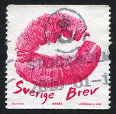 Stamp Kiss — Stock Photo