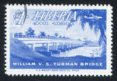 William Tubman bridge — Stock Photo