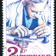 Stock Photo: Stamp engraver