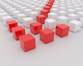 White and red blocks - abstract — Stock Photo