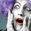 Crazy clown — Stock Photo