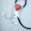 Stethoscope and heart — Stock Photo #12098586