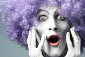 Expressive clown — Stock Photo