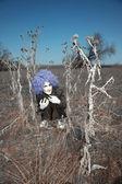 Crazy clown — Stock Photo
