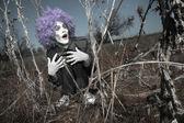 Maniac clown — Stock Photo