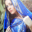 Stock Photo: Blue sari
