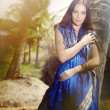 Indian fashion in sari — Stock Photo