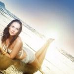 Beauty at the beach — Stock Photo