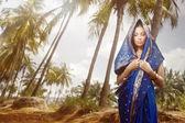 Moda indiana em sari — Foto Stock