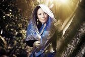 Indian fashion in sari — Stock Photo