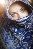 Sárí žena — Stock fotografie