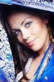 Mulher em sari — Foto Stock