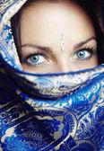 Retrato de sari — Fotografia Stock