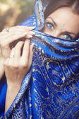 Lady in sari — Stock Photo