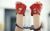 Ruce v nohou — Stock fotografie