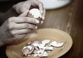 ägg matlagning — Stockfoto