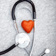 Stock Photo: Stethoscope and heart