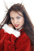 Female Santa — Stock Photo