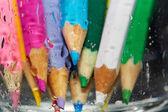 Nasse farbstiften — Stockfoto