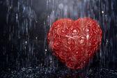 Heart in rain — Stock Photo