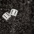 Gambling dices under rain — Stock Photo #39620625