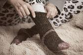 шерстяные носки — Стоковое фото