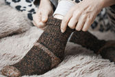 Meias de lã — Fotografia Stock