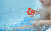 Toddler in the bath — Stock Photo