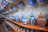 Ceramic art shop — Stock Photo