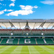 WARSAW, POLAND - May 25, 2012: Legia Warszawa empty football stadium  — Stock Photo