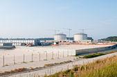 SWINOUJSCIE, POLAND: 29 August 2012 - construction of LPG terminal in Swino — Foto Stock