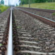 Detail of Railway railroad tracks for trains — Stock Photo #14413495