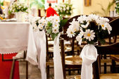 Adorned church before ceremony of the first holy communion — Stock Photo
