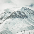 High mountains in Georgia in the winter time — Stock Photo
