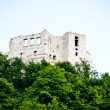 Stock Photo: Riuns of medieval castle on the hill