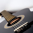 Classical acoustic guitar close up — Stock Photo