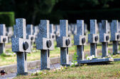 Granit crosses on the graves of warriors Second World War — Stock Photo