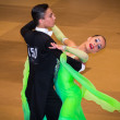 Competitors dancing slow waltz on dance conquest — Stock Photo #38667199