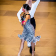 Competitors dancing latin dance on conquest — Stock Photo #38667637