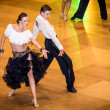 Competitors dancing latin dance on conquest — Stock Photo #38667747