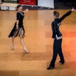 Competitors dancing latin dance on conquest — Stock Photo #38667989