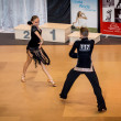 Competitors dancing latin dance on conquest — Stock Photo #38668061