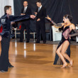 Competitors dancing latin dance on conquest — Stock Photo #38668699