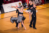 Competitors dancing latin dance on the conquest — Foto Stock