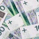 Background of 100 PLN (polish zloty) banknotes — Stock Photo #47253319