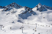 Ski resort of Neustift Stubai glacier Austria — Zdjęcie stockowe