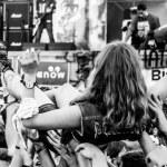 Rock concert crowd in Przystanek Woodstock 2014, Kostrzyn, Poland — Stock Photo #50651269