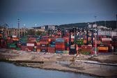 Baltic container terminal in Gdynia, shipyard Gdynia. Poland. — Stock Photo