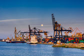 Baltic container terminal in Gdynia, shipyard Gdynia. Poland. — Stock Photo