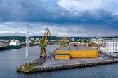 İskele liman ve tersane Gdynia, Polonya — Stok fotoğraf